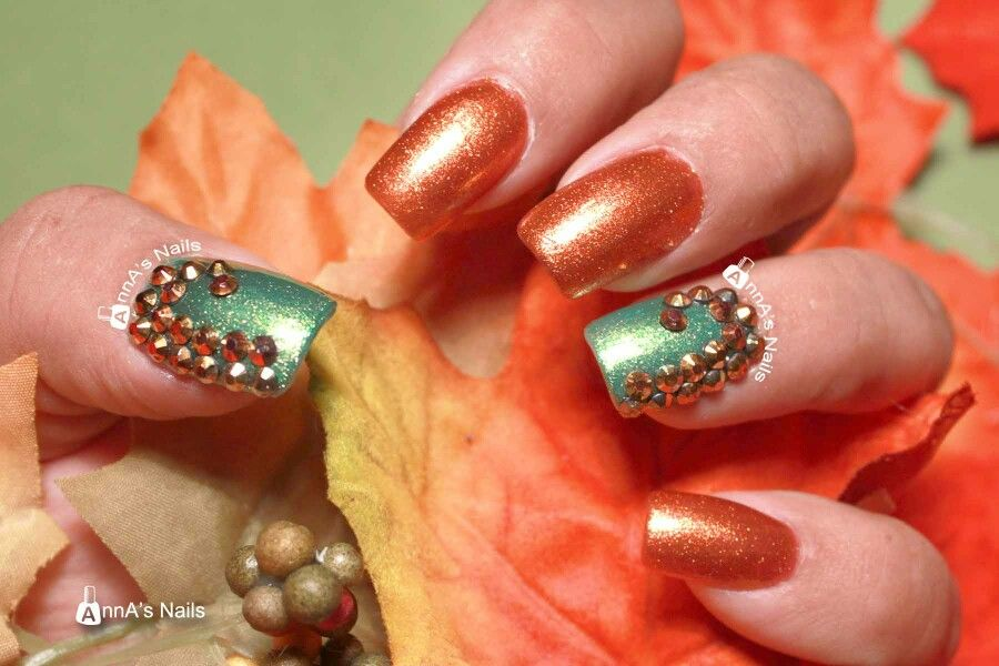 Fall nail art by AnnA's Nails