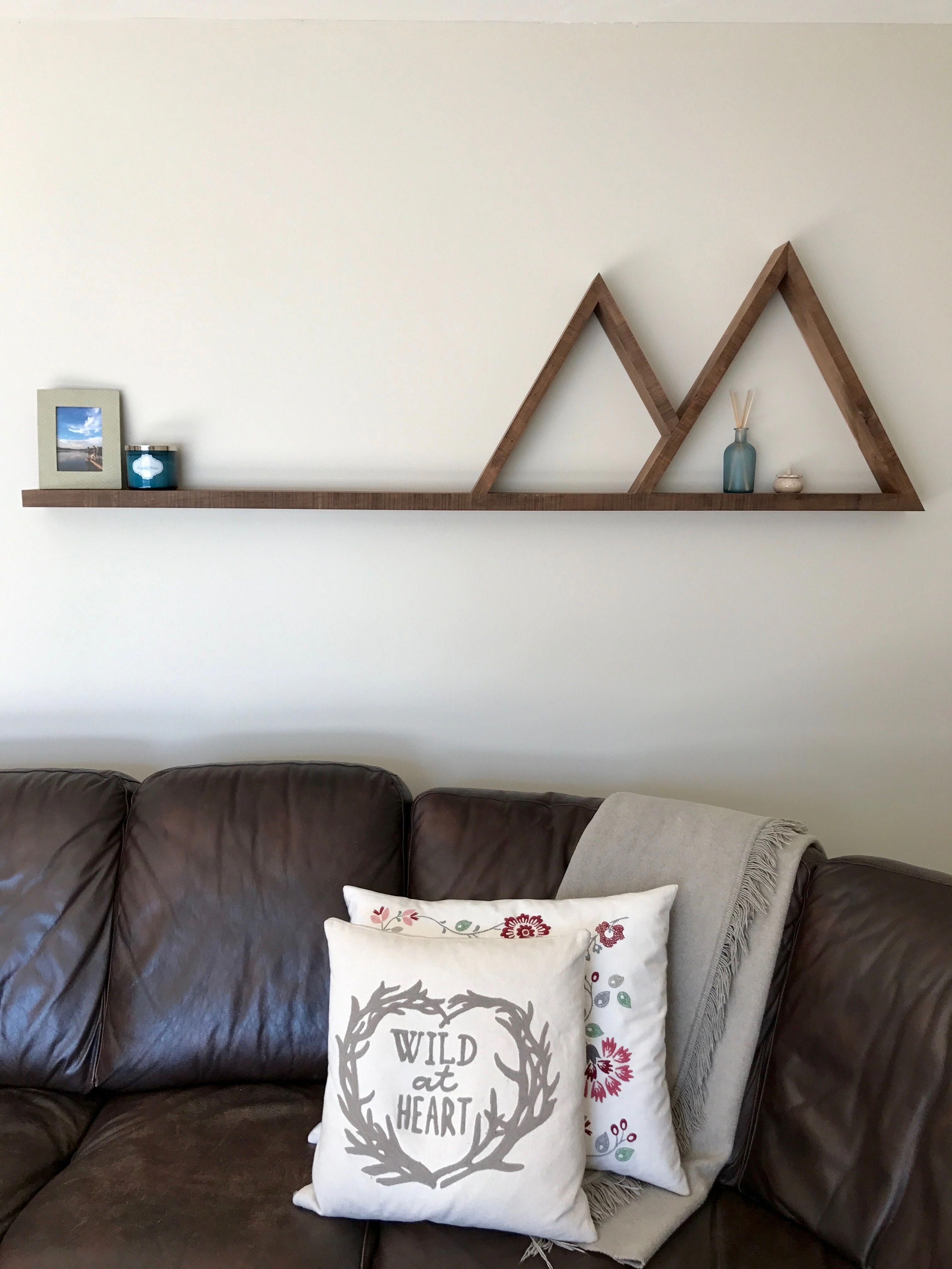 72 mountain shelf ginnusandcrownwoodwork diy wood wall