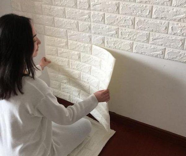 Soundproof Insulating Wall Stickers Patterned Wallpaper Bedroom Tv Decor Brick Pattern Wallpaper