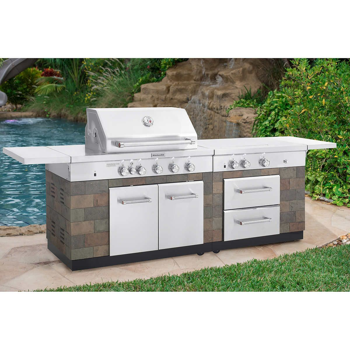 Kitchenaid 9 Burner Island Grill Outdoor Kitchen Bbq Built In