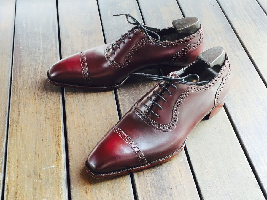styleforumnet:  Not Dorothy's shoes. Saint James II in deco last and color 8 Horween Shell Cordovan.