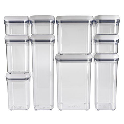 OXO Good Grips 10 Piece Airtight Food Storage POP Container Value