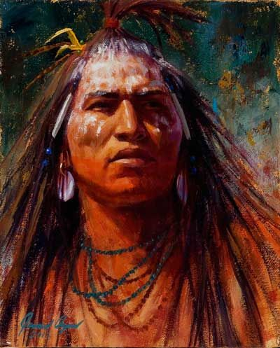 James Ayers Artist | James Ayers Native American Indian art - Gaze of Authority