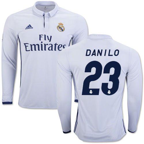 16 17 la liga club s danilo real madrid cf sleeve shirt jersey 23 replica  white f56fcd037
