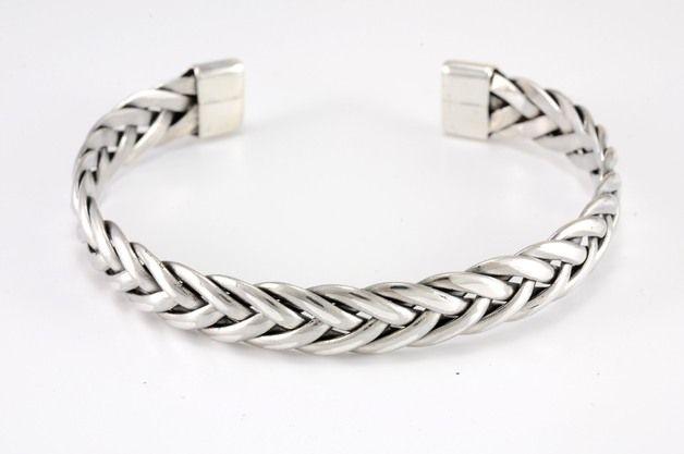 Silberarmbänder - Armreif aus 925er Silber - ein Designerstück von denarr bei DaWanda