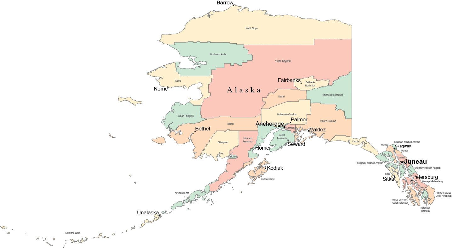 Image Result For Alaska Map With Major Cities Alaska Bound
