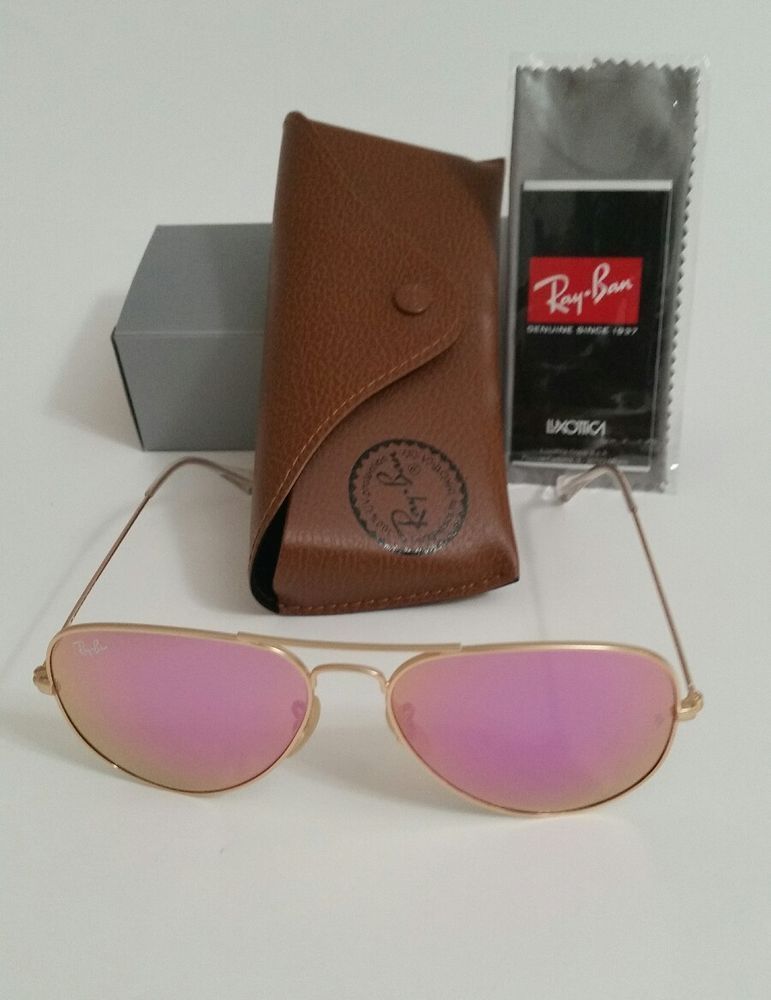 2135a01d46 RAY BAN AVIATOR RB3025 112/4T 58mm Pink MIRROR used #RayBan #Aviator