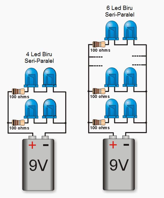 Cara Merakit Led Dengan Tegangan 9 Volt Rangkaian Elektronik Led Lampu Led