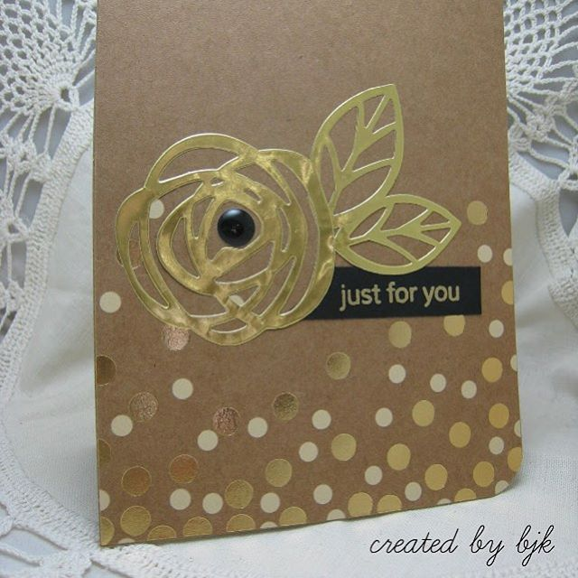 Our Pinterest boards are bursting with inspiration! Click on our profile link for oodles of card ideas and inspiration (like this card by bjk)! #EssentialsbyEllen #EllenHutsonLLC #BestCustomersEver