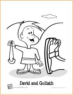 david and goliath free coloring page http makingartfun com htm
