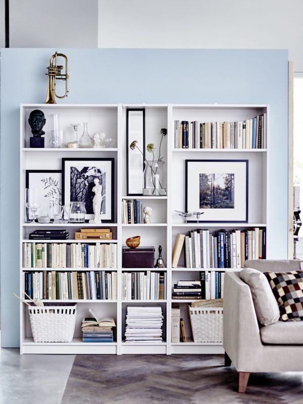 Tous les styles déco de la bibliothèque Billy par Ikea