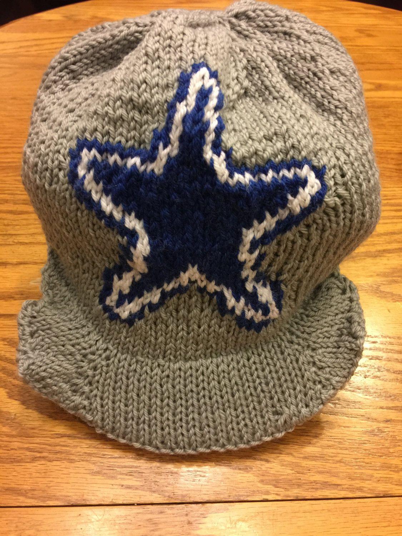 Dallas Cowboys Logo Cap Beanie Hat PATTERN - Cap with Bill ...