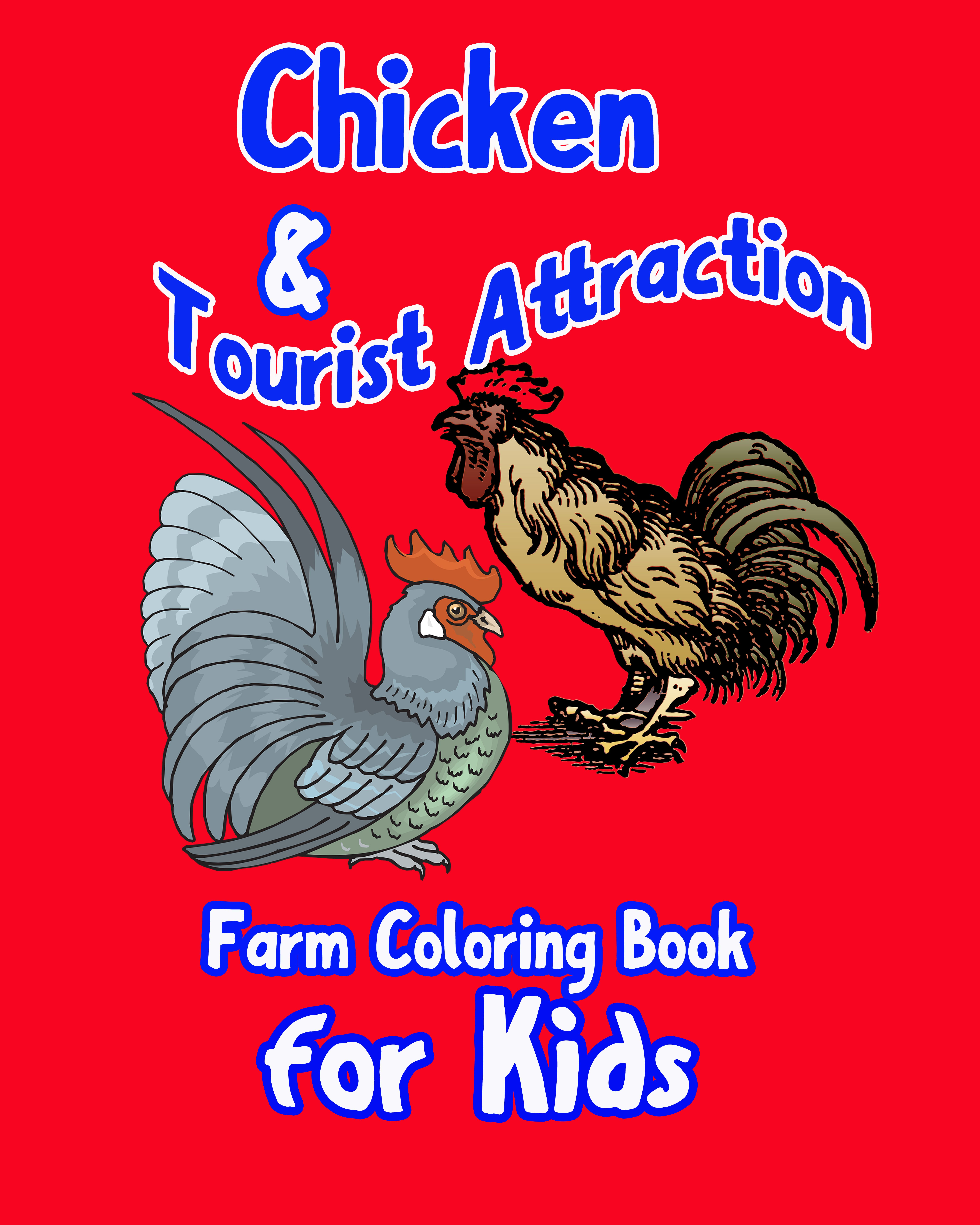 Do you know  kids always love animals?   Spark  your kid's talent and creativity  with work of art is a good idea. Let's encourage them color many kinds of picture. Coloring generate creativity that will turn to be a great idea which will change the world.  This coloring book is a great value at several pages. Each page contains one or more high quality  images for children to generate their creativity by color it.