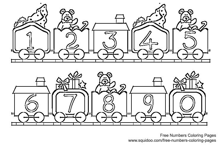 Superbe Numbers Coloring Page #1