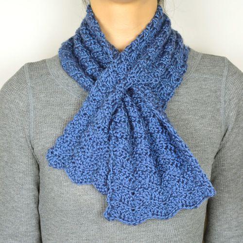 Crochet Pattern: Subtle Chevron Keyhole Scarf (Crochet Spot ...