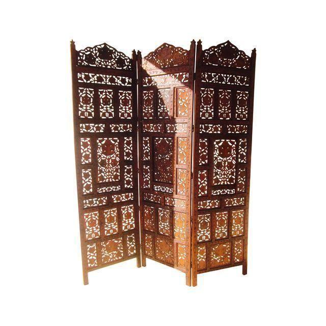 Moroccan Teak Wood Room Divider Screen