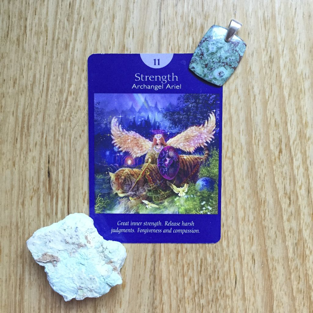 Card of the day 25 april strength angel tarot cards