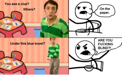 "Sorry for the language, but when you've watched as much Blues Clues as I did when Jack was growing up, this is ""spit out your coffee"" funny!!"