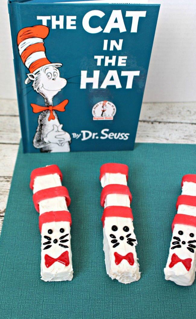 Cat in the Hat Rice Krispie Sticks Recipe Dr seuss