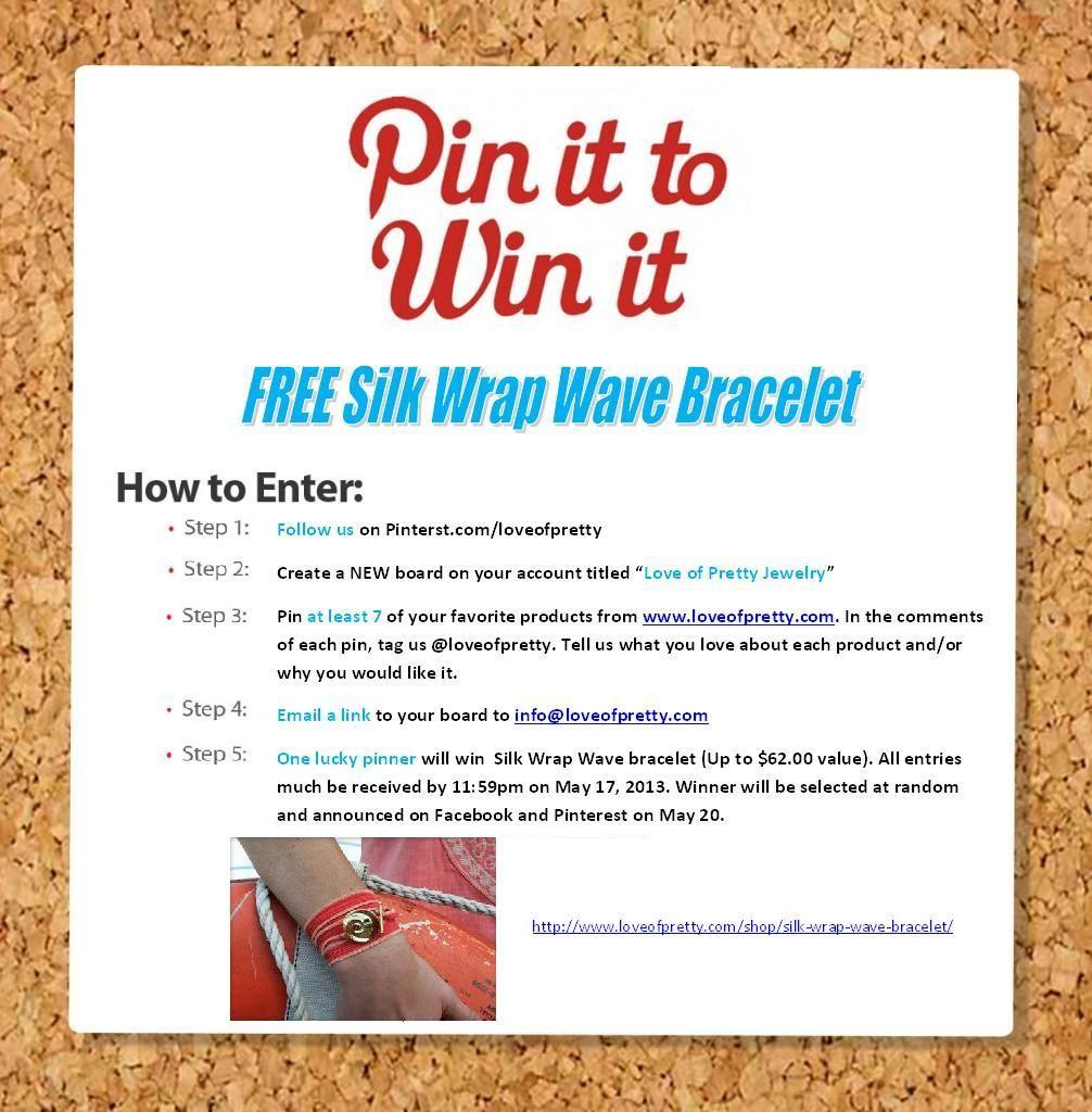 Pin It To Win It Contest!!  #PinItToWinIt