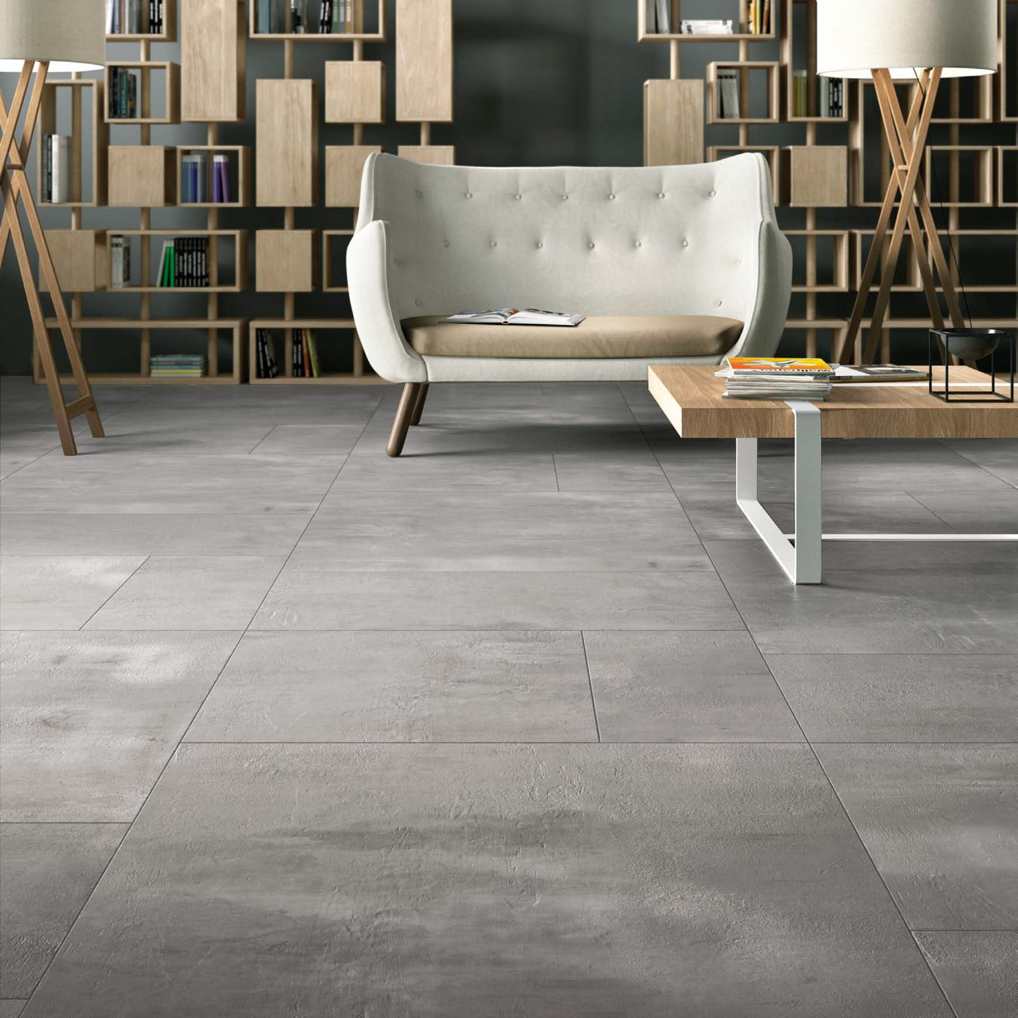 Urban Cement Grey Stone Effect Ceramic Wall Floor Tile: Italian Full Body Porcelain Tile