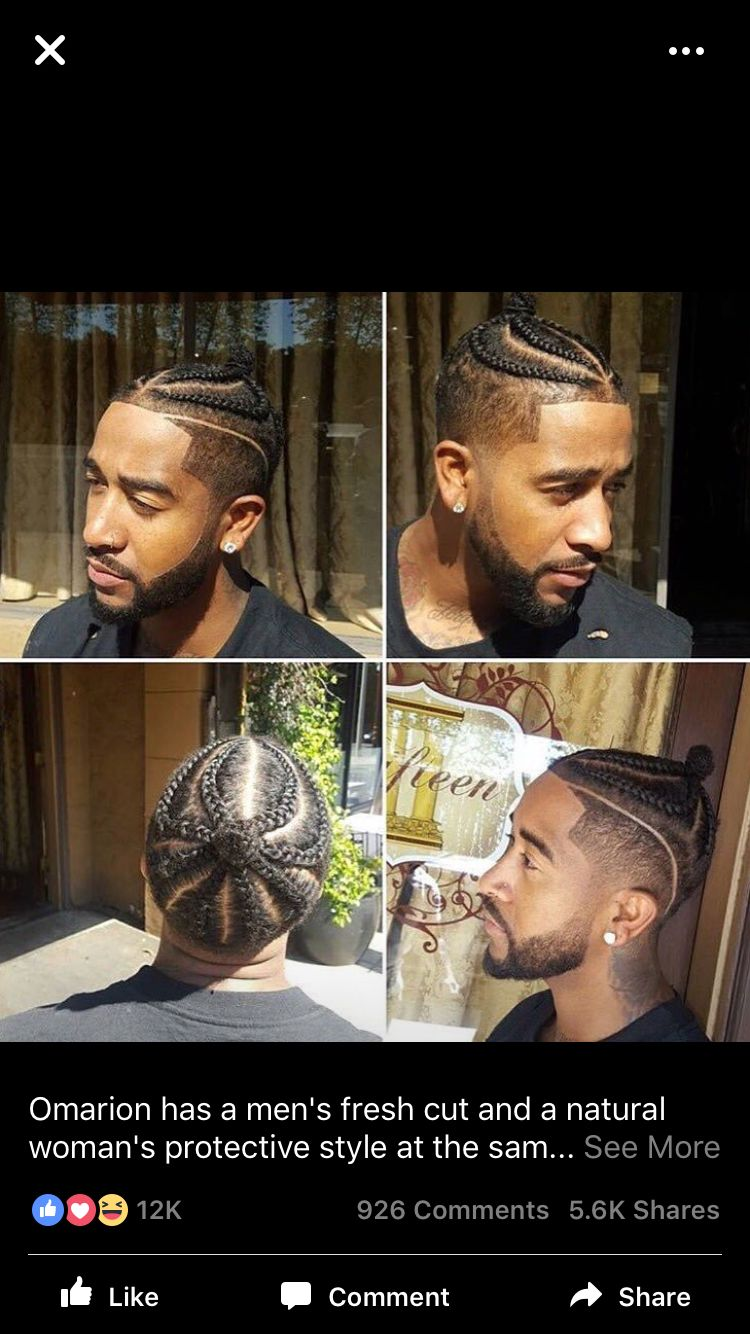 braided faded man bun omarion | hair | hair styles, natural