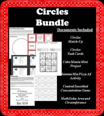 Circles Bundle From Math Is Fun On Teachersnotebook Com 30