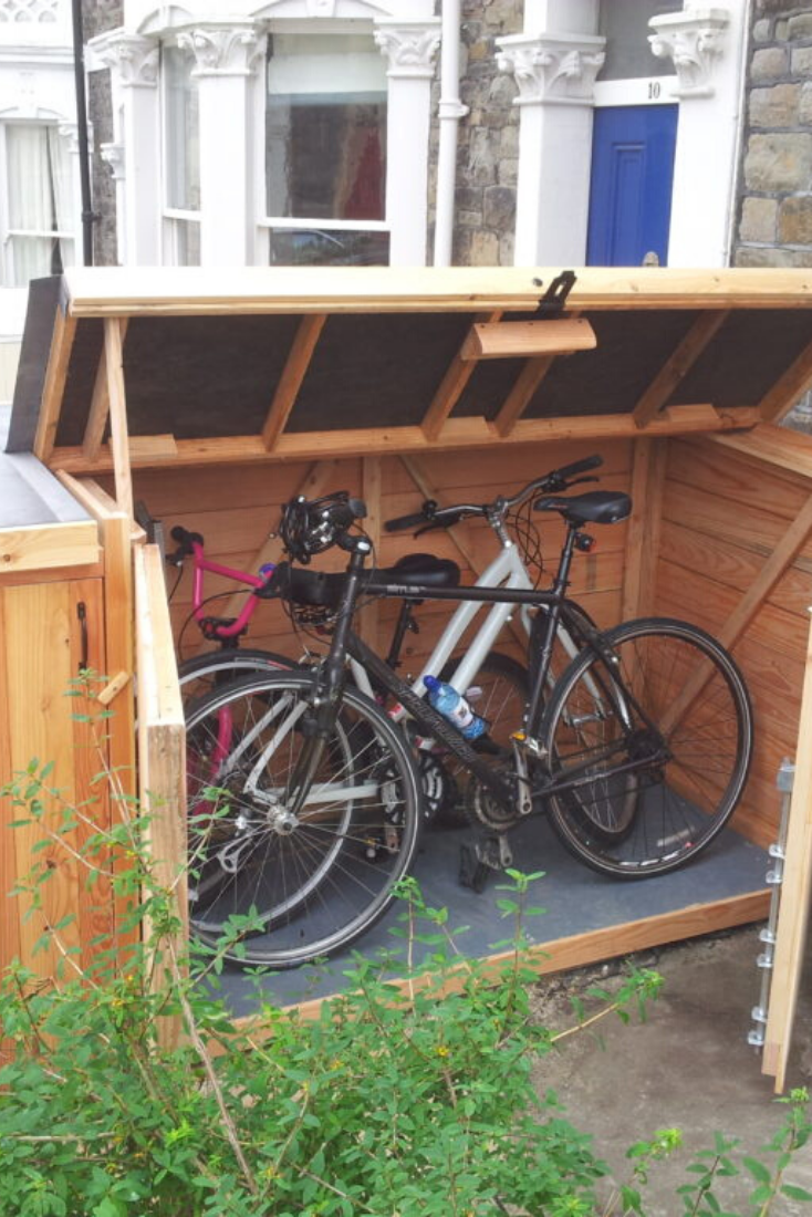 30 Functional Bike Storage Ideas In 2020 Bicycle Storage Garden Bike Storage Outdoor Bike Storage