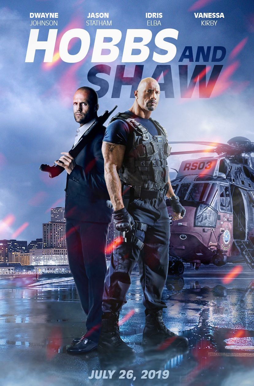 Hobbs And Shaw 2019 Poster Dwayne The Rock Johnson Jason Statham