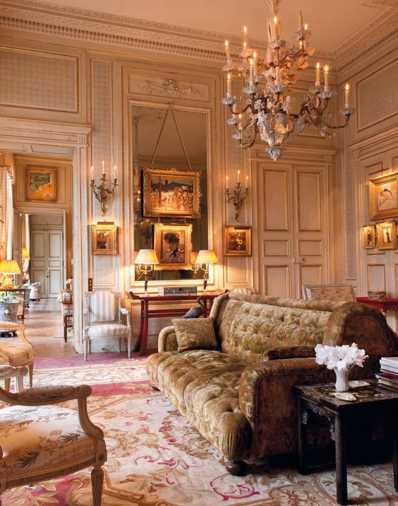 Beaux Arts Enfilade With Louis Xv And Second Empire Decoration