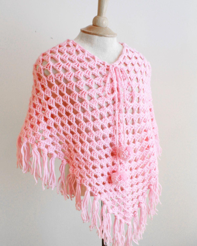 Ponchos for Kids Crochet Pattern PDF   Poncho jacke, Häckeln und ...