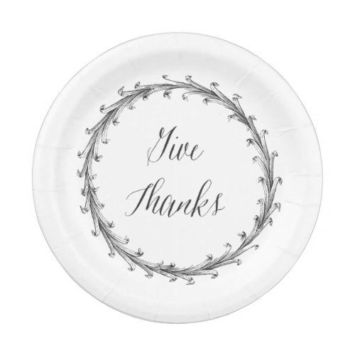 Give Thanks Vintage Graphic Paper Plate  sc 1 st  Pinterest & Give Thanks Vintage Graphic Paper Plate | Thanksgiving Dinner Ideas ...