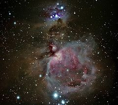 Messier 42, The Great Orion Nebula and NGC 1973/1975/1977, The Running Man Nebula
