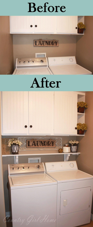 Elegant Laundry Room Ideas Country  Laundry room storage, Laundry