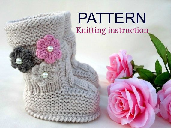 P A T T E R N Baby Booties Baby Girl Shoes Pattern by Solnishko43 ...