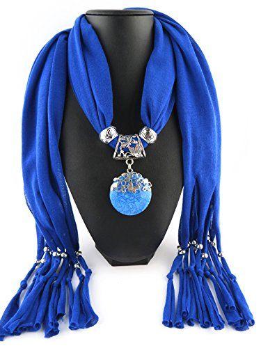 Jemis Party Women Scarf Neck Wrap Necklaces Jewelry (Blue) Jemis http://www.amazon.com/dp/B0127CKQRK/ref=cm_sw_r_pi_dp_Z5O6vb17R7KR5