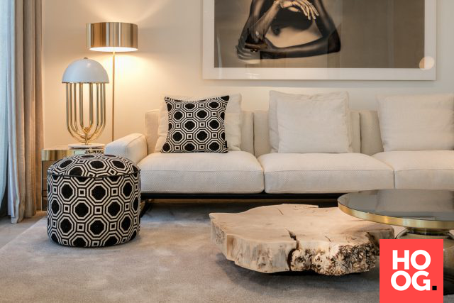 Luxe meubelen in woonkamer inrichting | woonkamer ideeën | living room decor ideas | luxury living room | Hoog.design