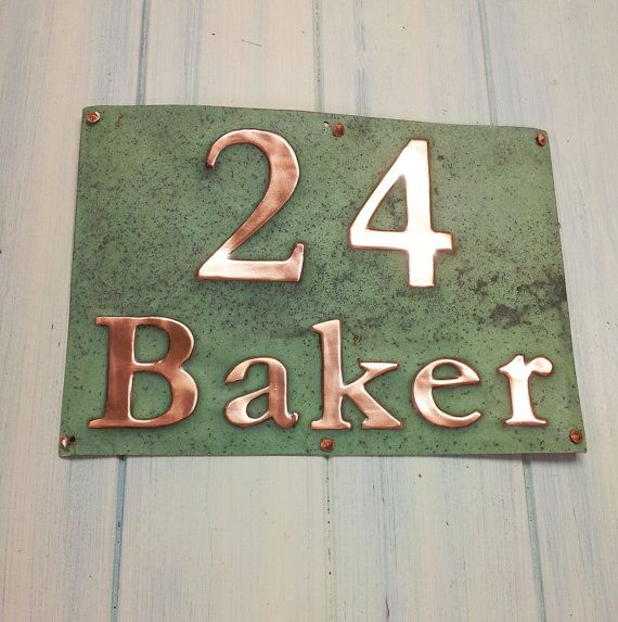 f66657a03c3a House Sign Address Plaque in Real Copper, 3