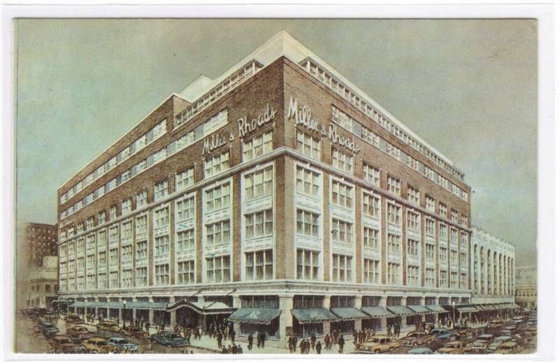 Miller and Rhodes Department store in Richmond, Virginia.  Now long gone after the invasion of the malls, this building was 7 stories of shopping pleasure and memories!