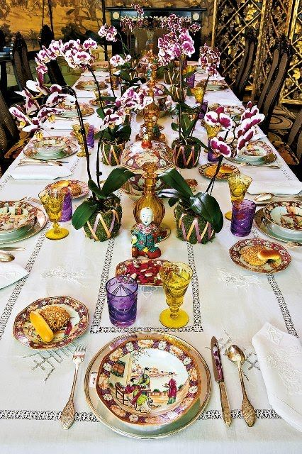 Happy Thanksgiving! | Pinterest | Chinoiserie, Table settings and Orchid