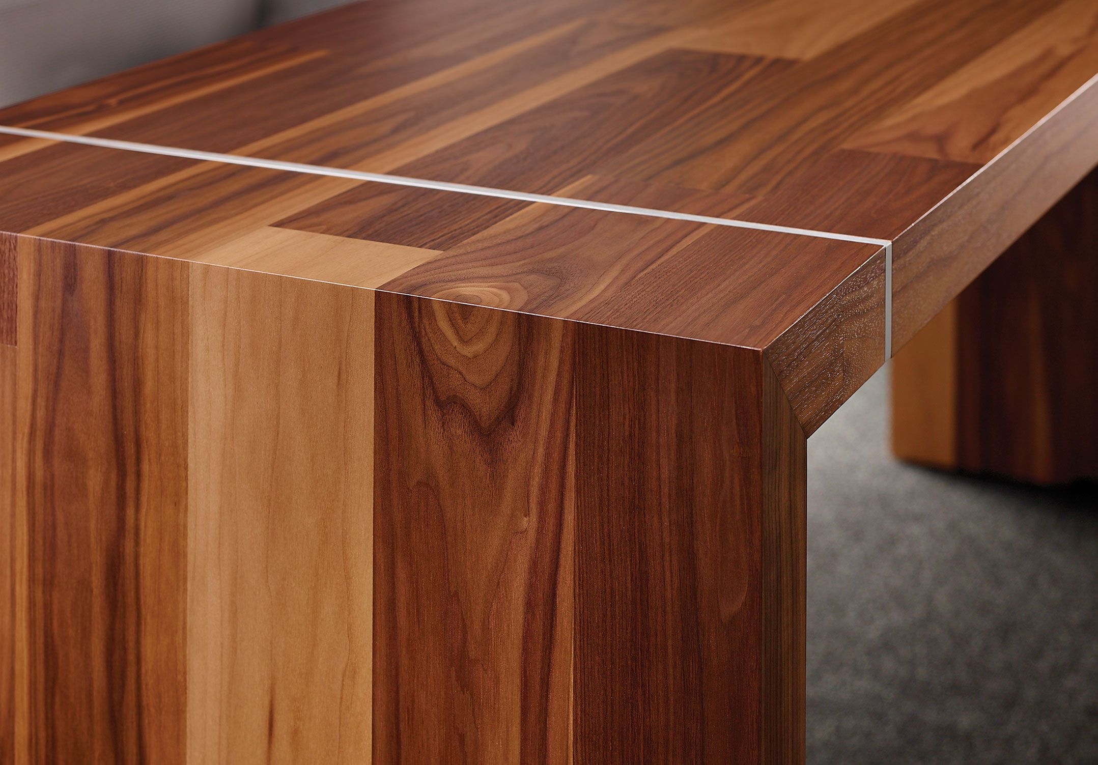 Tesano Features Mitered Corners With Wrapped Veneers Shown