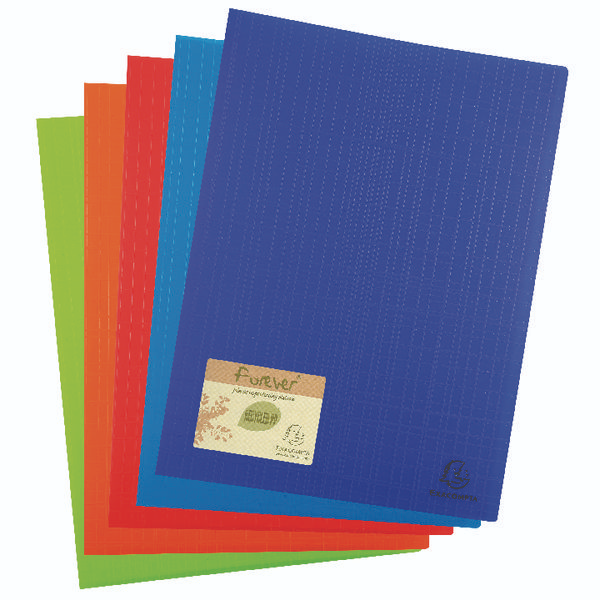 Green A4 100 Pockets Exacompta Soft PP Display Book