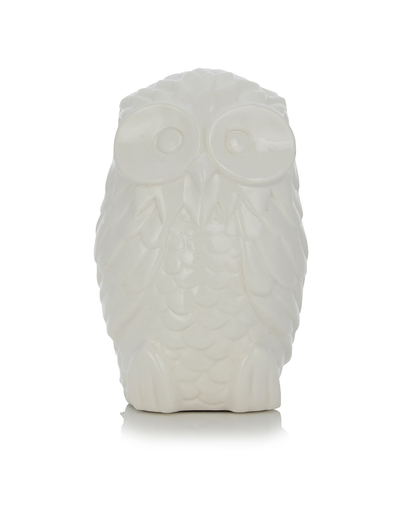 George Home White Ceramic Owl Lamp Lighting Asda Direct Owl Lamp Ceramic Owl George Home