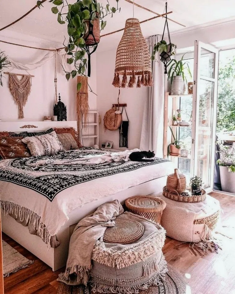 31 Modern Retro Vintage Style Bedroom Ideas Bohemian House