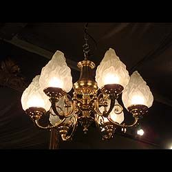 11131 one of two large brass six branch chandeliers in the baroque antique chandeliers from westland london including dazzling vintage antique glass chandeliers and intricate antique french chandeliers aloadofball Images