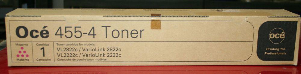 Genuine Oce 4557 455-7   Toner Cartridge Yellow