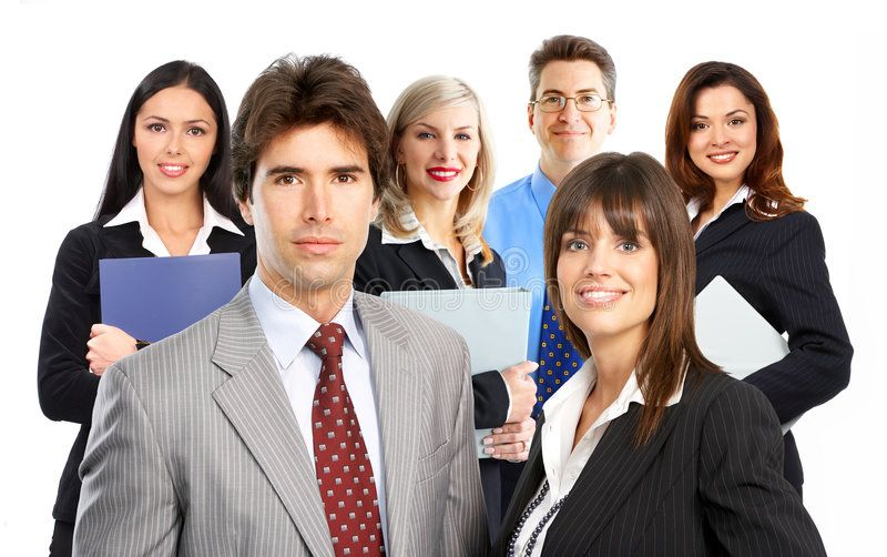 Business People Large Group Of Young Smiling Business People