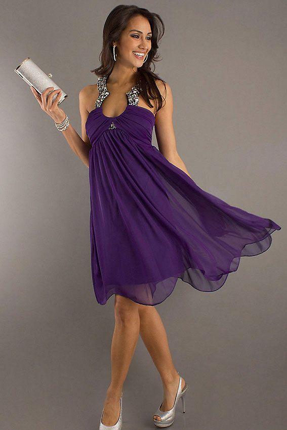 purple cocktail dress | Elegance | Pinterest