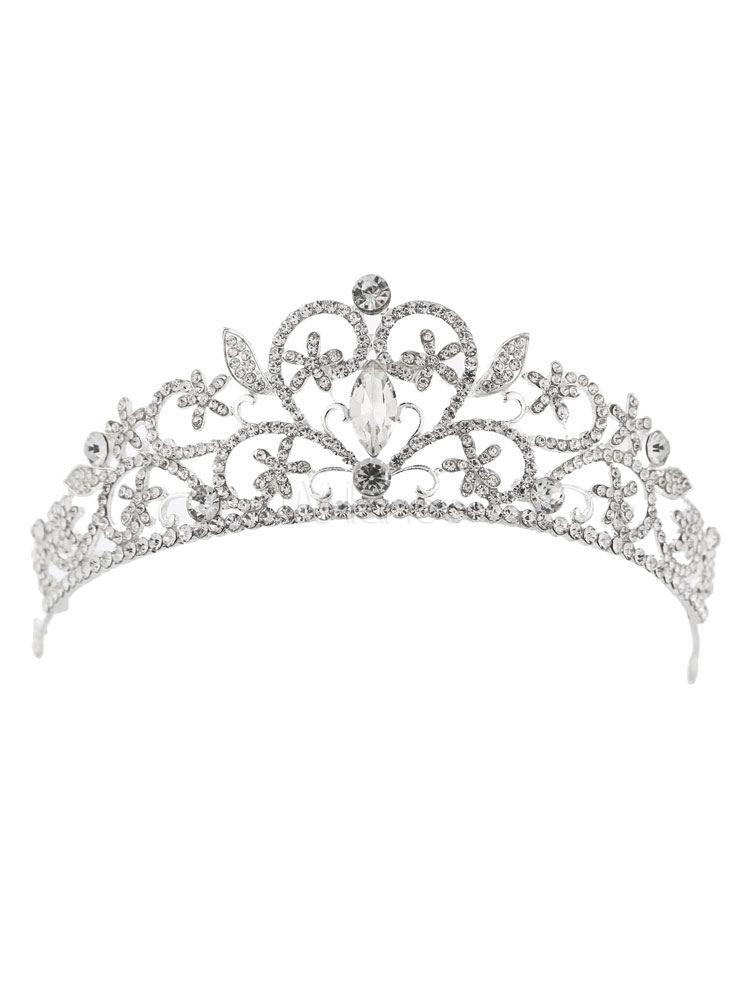 Tiara Diadème Perles Strass Bijoux de cheveux Coiffe Mariée Strass Mariage
