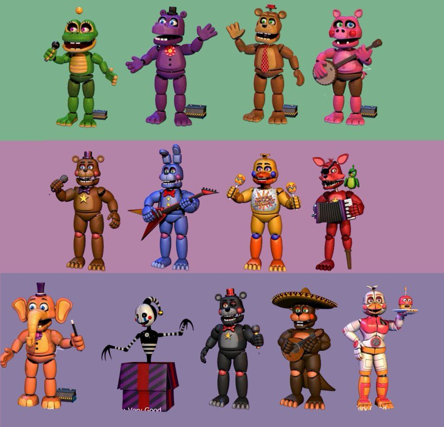 FNaF 6 - All Animatronics by LUVUS-7 | fnaf | Fnaf, Five nights at